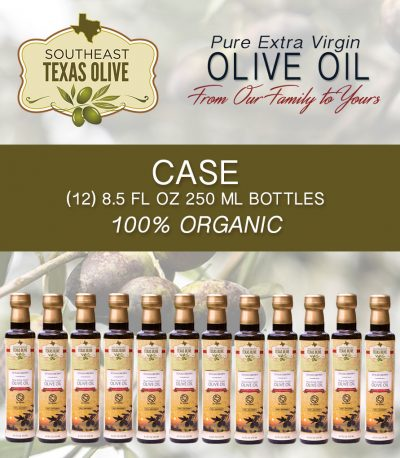 Case of 8.5 fl oz of Southeast Texas Extra Virgin Olive Oil
